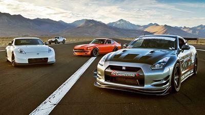 SEMA Drag Race: 240Z vs 370Z vs GTR vs Trophy Truck!